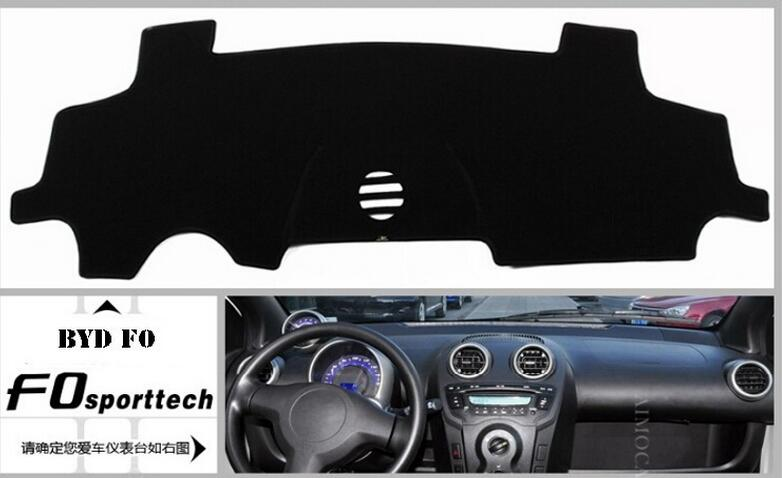 byd f3 g3 s6 m6 f0 special,Dashboard car insulation pad, insulation, avoid reflective, black polyester car styling Free shipping(China (Mainland))