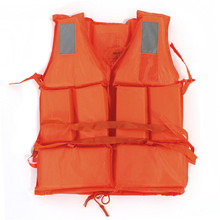 Newest Hot Sale Orange Adult Swimming Surfing Water-skiing Summer Drift Rafting Lift Vest Jacket flotation Device With Whistle(China (Mainland))