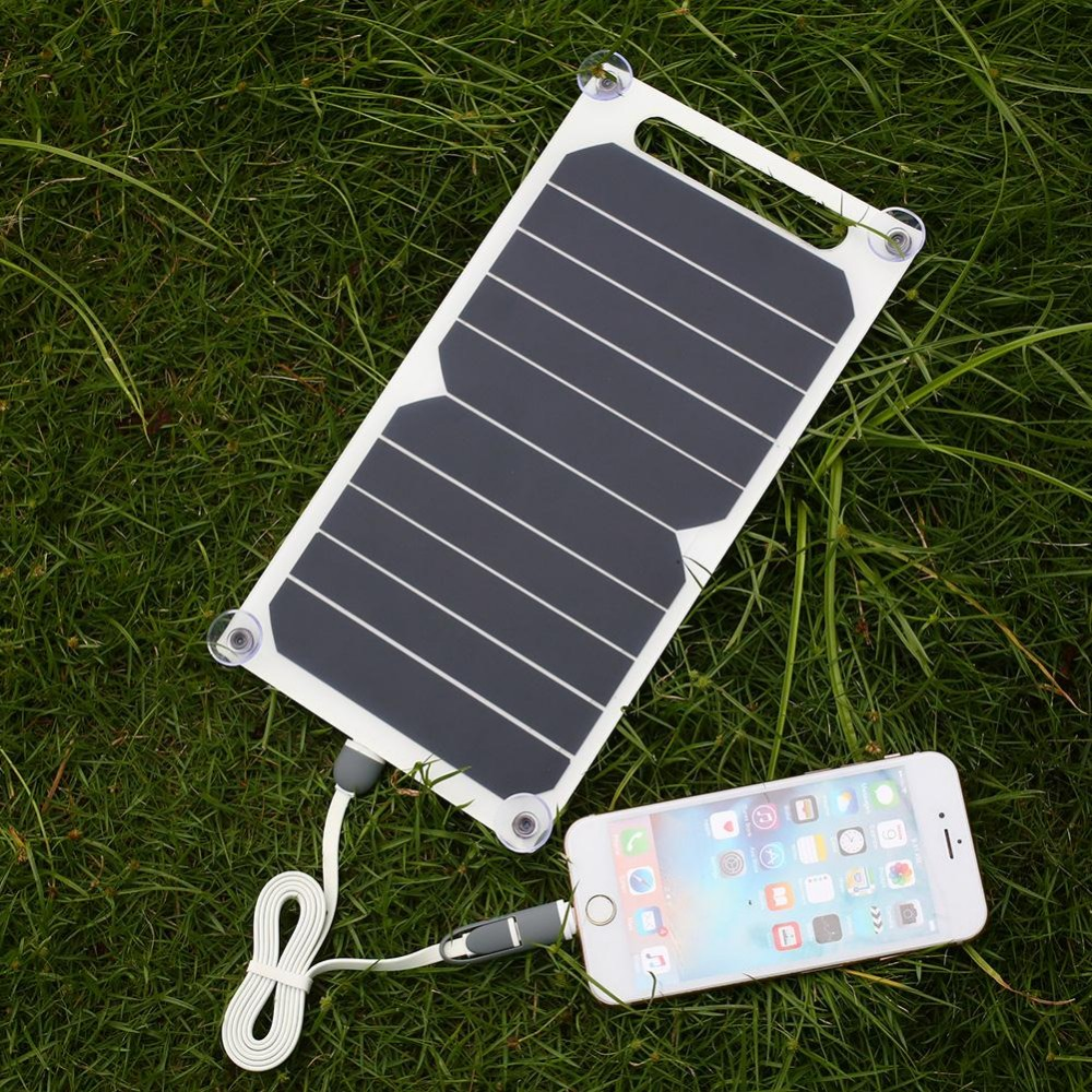 Portable 5V Solar Power Charging Panel Charger USB For Mobile Smart Phone iPhone Samsung