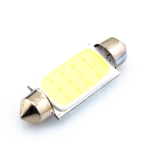 Big Promotin White 41MM 12 Chips COB C5W Car Auto Festoon Dome Interior LED Lights Lamp Map Roof Reading Bulb DC12V(China (Mainland))