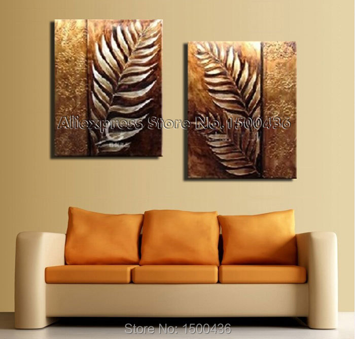 Leaves Painting Canvas Paintings Leaf Canvas Art