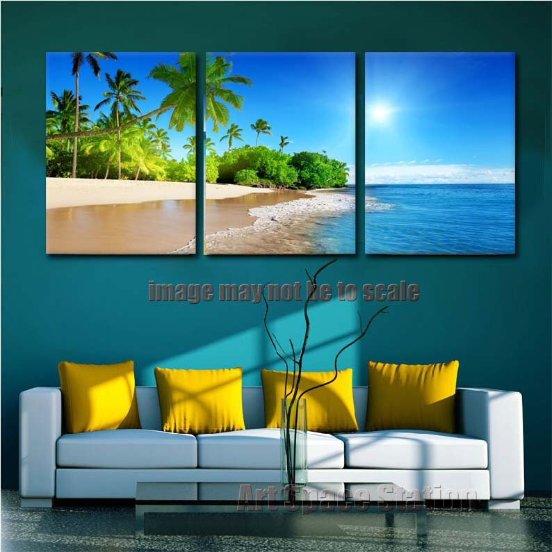 Decorative pictures beach seascape hd canvas print wall - Posters gigantes para pared ...