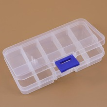 New 10 Value Plastic Components Slot Transparent Electronic Beads Box Storage Assortment Case Convenience Store Small Items(China (Mainland))