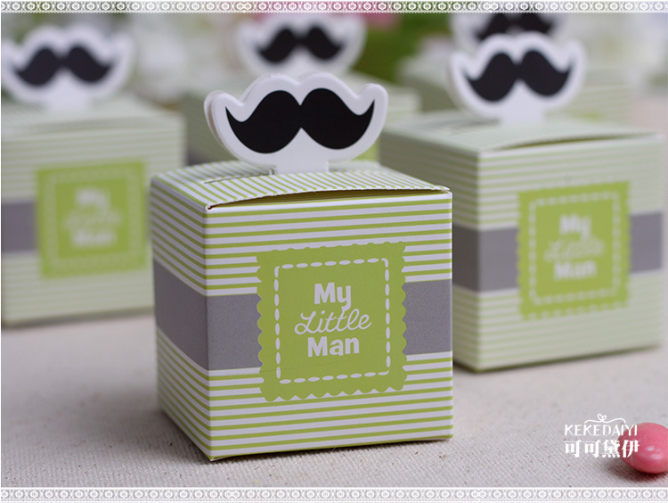 "wedding favor candy box -- ""My Little Man"" Favor Boxes Baby Shower Party sweet favor Gift Box 100pcs/lot(China (Mainland))"