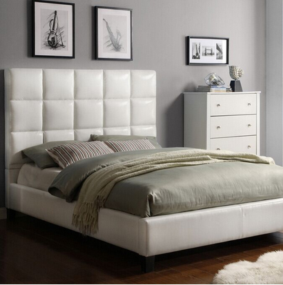 Lizz Bonded European Style Leather King-Sized Upholstered Bed Platform Bed(China (Mainland))