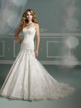 New Beaded Wedding Dress Sweetheart Low Back Appliqued Sequined A Line Bridal Gown Vestido De Noiva Custom Made Nova Bridal PB11(China (Mainland))