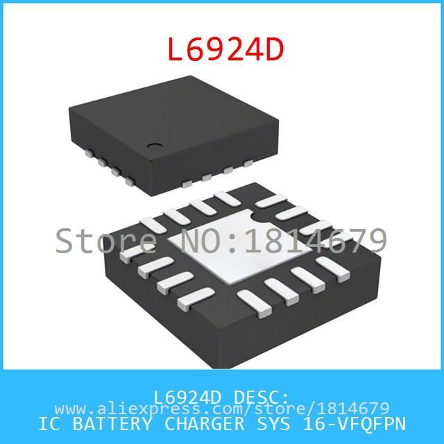 Voltage Regulator L6924D IC BATTERY CHARGER SYS 16-VFQFPN 6924 L6924 1pcs(China (Mainland))
