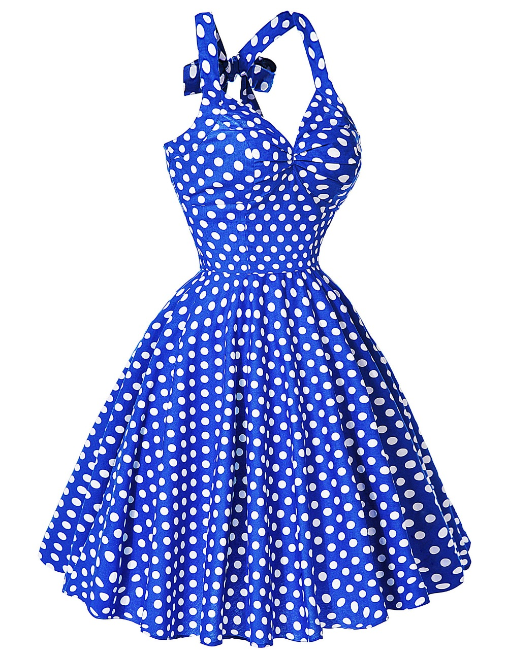 2016 Summer Party Swing Dresses Women Rockabilly 50s 60s Dress Audrey Hepburn Vestidos Polka Dots Retro Vintage Plus Size - shoppingitforless store
