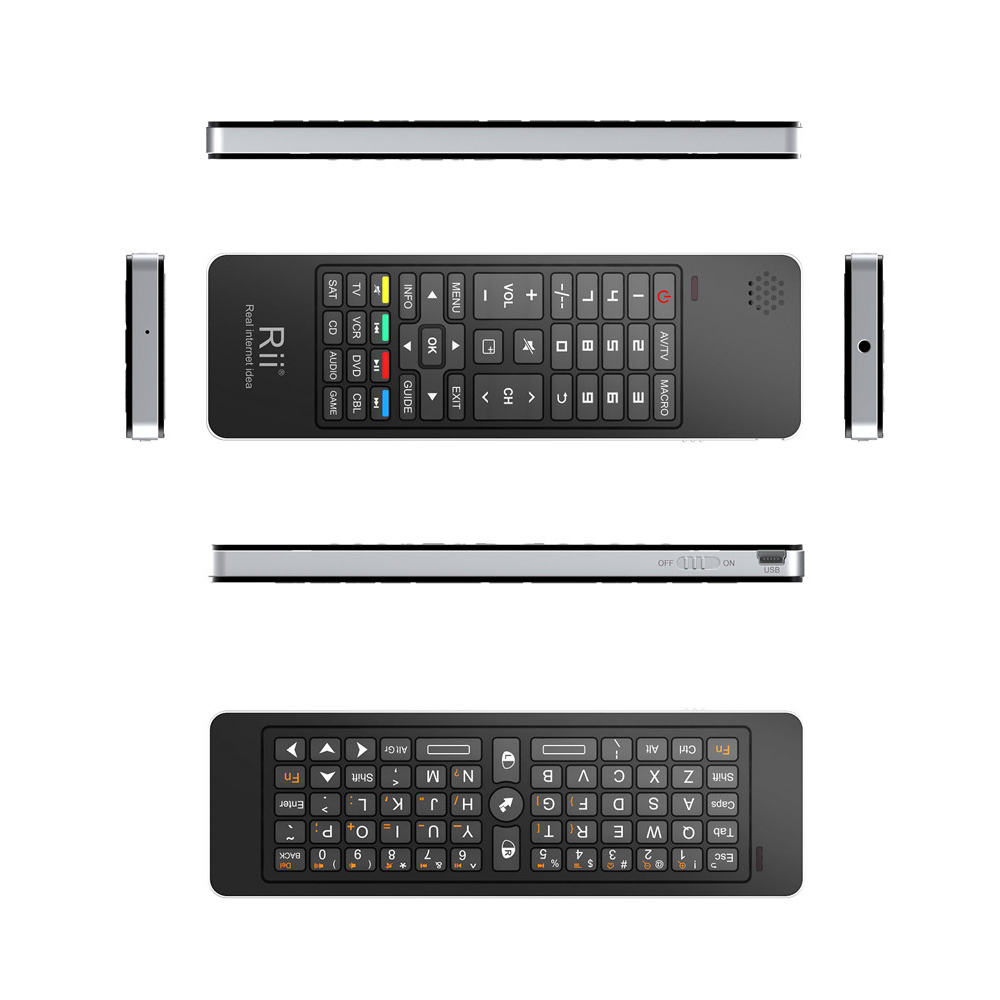 Rii i13 2.4G Android Air Mouse Remote Control Wireless Keyboard with Mircophone & Speaker & IR Remote learning For Smart TV, PC(China (Mainland))