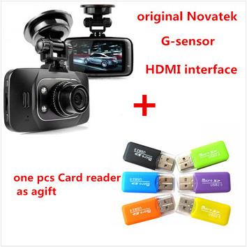 100% Original GS8000L Novatek 2.7 inch 120 degree 25fps Car DVR 1920*1080P Camera Voice Recorder GS8000 or HDMI cable(China (Mainland))