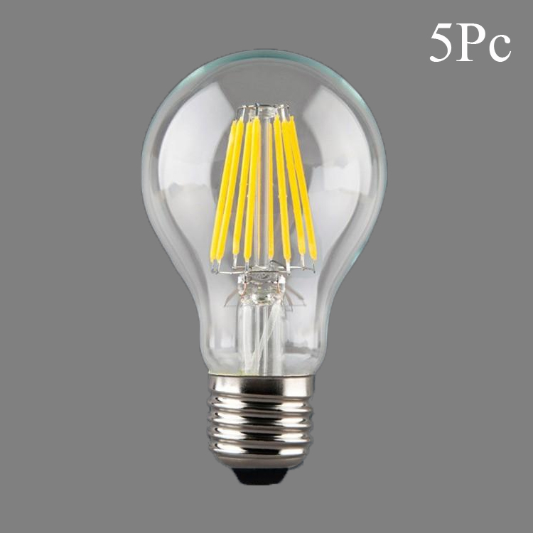 5x E27 LED Filament Light Bulb Lamps 230V 220V 4W 8W 12W 16W 360 Degree Retro Candle Lamp Lighting Edison A60 White/ Warm white(China (Mainland))