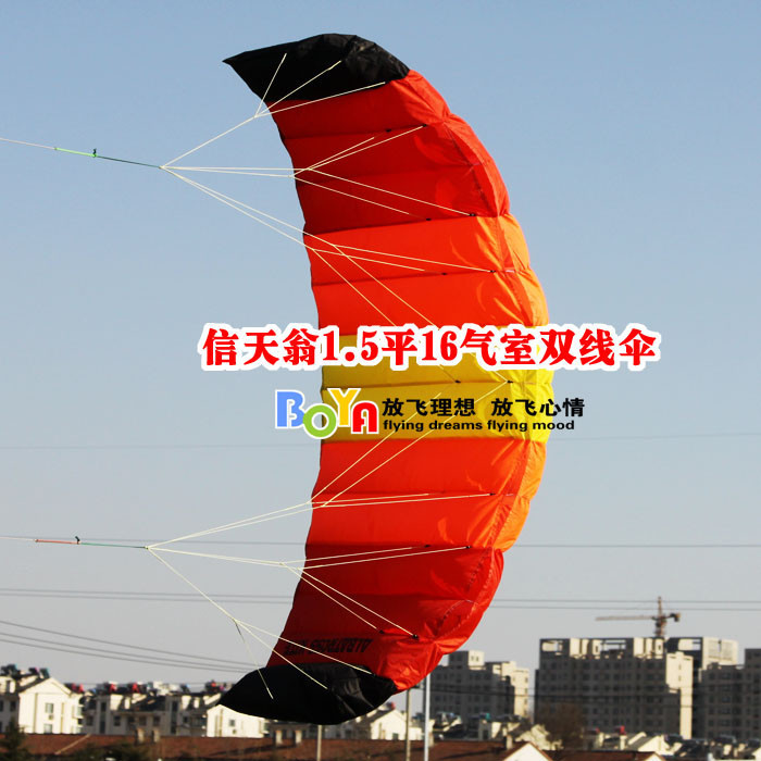 Outdoor sports professional kite albatross software 1.5 square kite stunt double paramotor free shipping(China (Mainland))