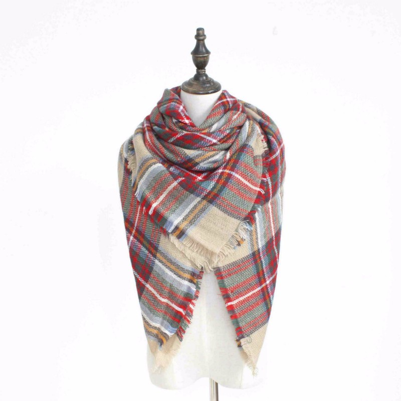 2017 new fashion Winter Plaid Cashmere Scarf Women Oversized Blanket Scarf Wrap long Wool Scarf Women girl warm lovely Scarves
