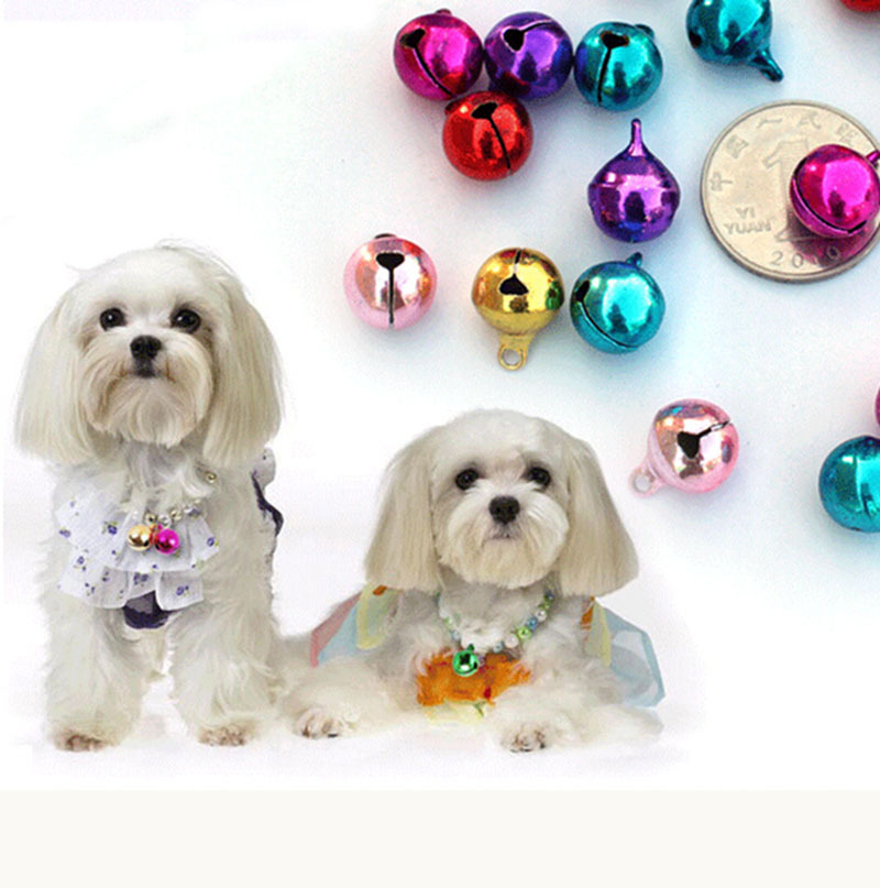 10pcs/lot Pet Dog Cat Neck Bells Collar Small Animal Head Neck Ornaments Bells Doggy Puppy Grooming Bells Accessories CW-80145(China (Mainland))