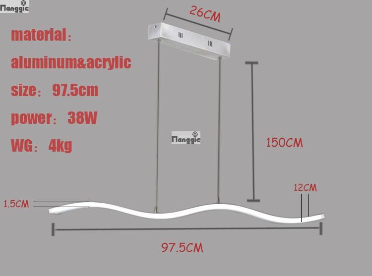 TOP moderne hanglampen voor eetkamer livingroom restaurant keuken lights AC85-260V armatuur lamparas hanger lampen L98CM(China (Mainland))