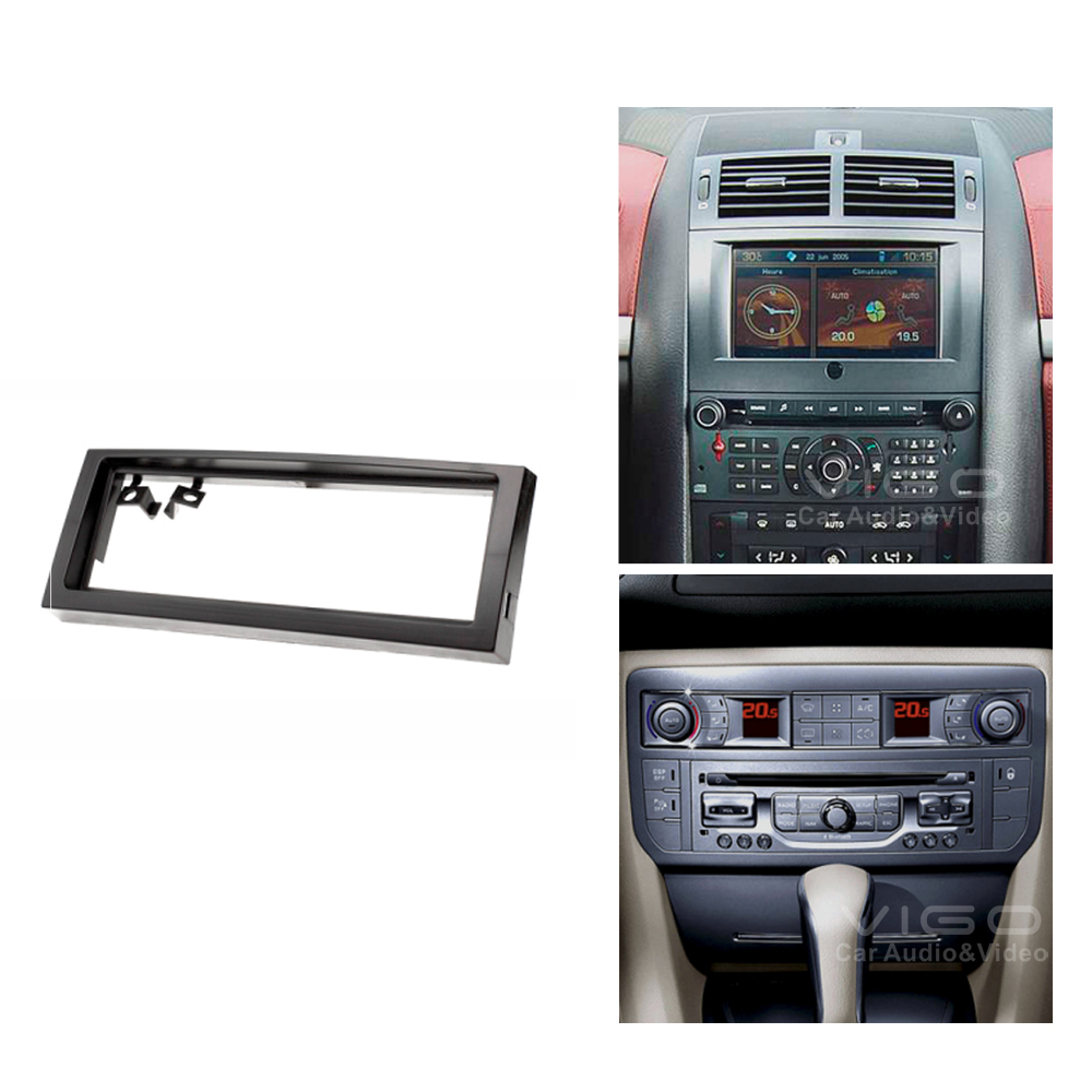 11 030 Car Radio Fascia Panel For Citroen C5 Peugeot 407 Stereo Dash Cd Facia Trim Installation