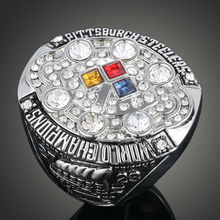 Wholesale Fashion Hot Sale European and American Replica Ring NFL 2008 Pittsburgh Steelers Super Bowl Championship Ring J02036(China (Mainland))