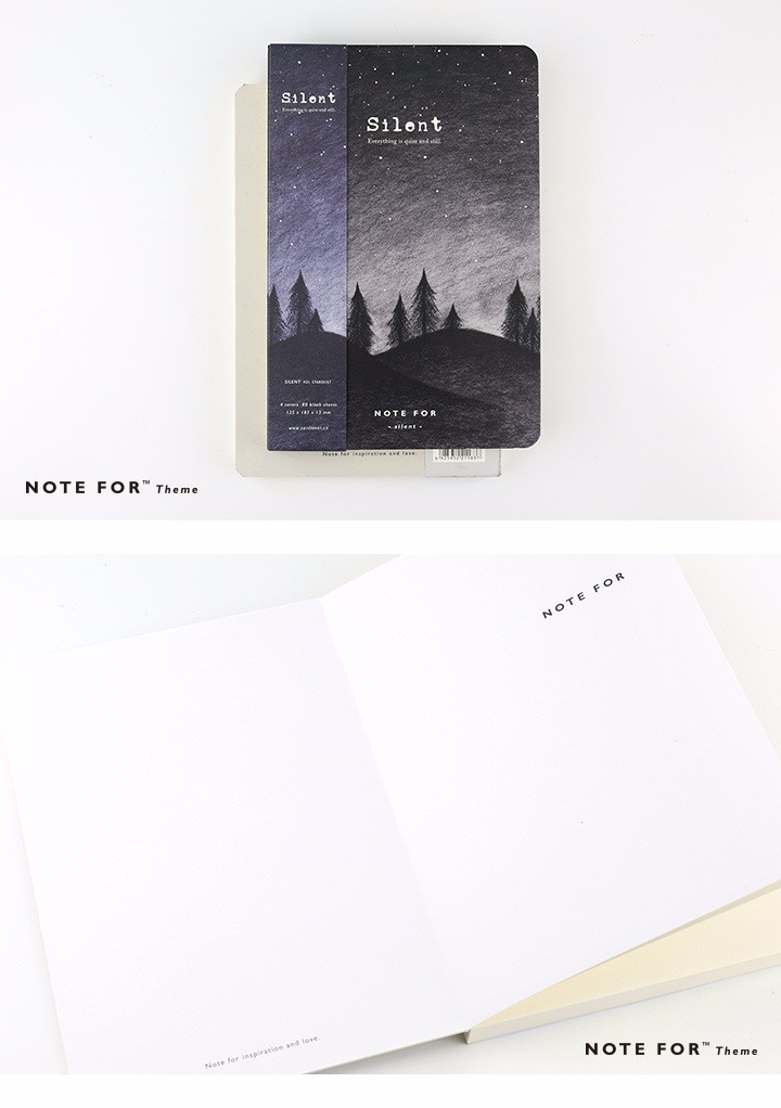 Note for silence creative notebook 12.5*18.5cm 80 pages blank sheets office school journal sketchbook gift