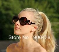 Free Shipping 5Pcs/Lot Women Baroque Swirl Arms Sunglasses Fashion Sunglasses