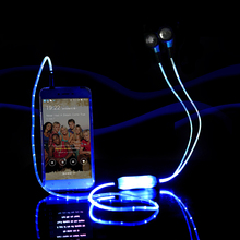 Visible from the LEDs flashing glow sport stereo ear headphones headset ear headphones with mic for all smartphones HE1034