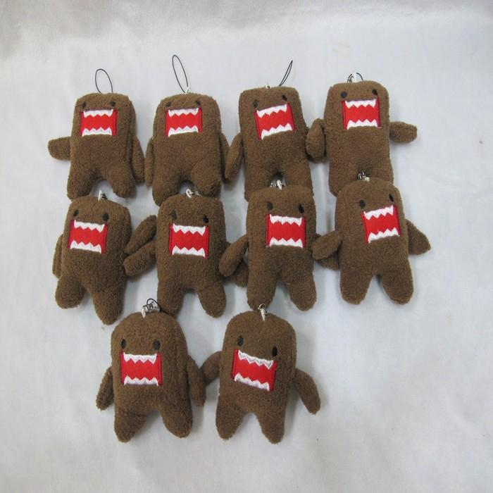 100шт/лот Домо кун плюшевые игрушки куклы Телефон Шарм Подвеска ремешок ремни Domokun Домо плюшевые игрушки 8 см