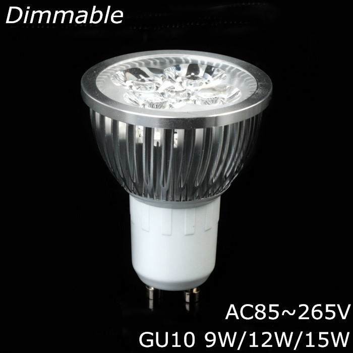 High quality 9W 12W 15W GU10 MR16 E14 E27 LED Bulbs Light 110V 220V dimmable Led Spotlights Warm/Cool White GU 10 LED downlight(China (Mainland))