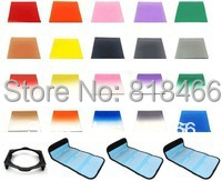 free shipping+tracking number 24in1 Gradual Square Colour Filte + Full Color Filter + Case for Cokin P series<br><br>Aliexpress
