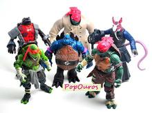 New Classics anime Teenage mutant ninja turtles Action Figures 6Pcs/Set Best Collection Toys