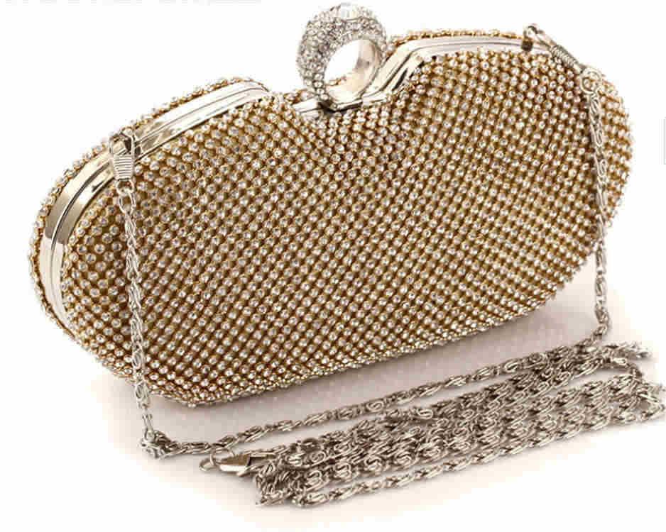 Women Evening Bag Fashion Rhinestone Designer Ring Clutches Wedding Purses Apple Dinner Party Bags Wallets Bolsas mujerXA374C