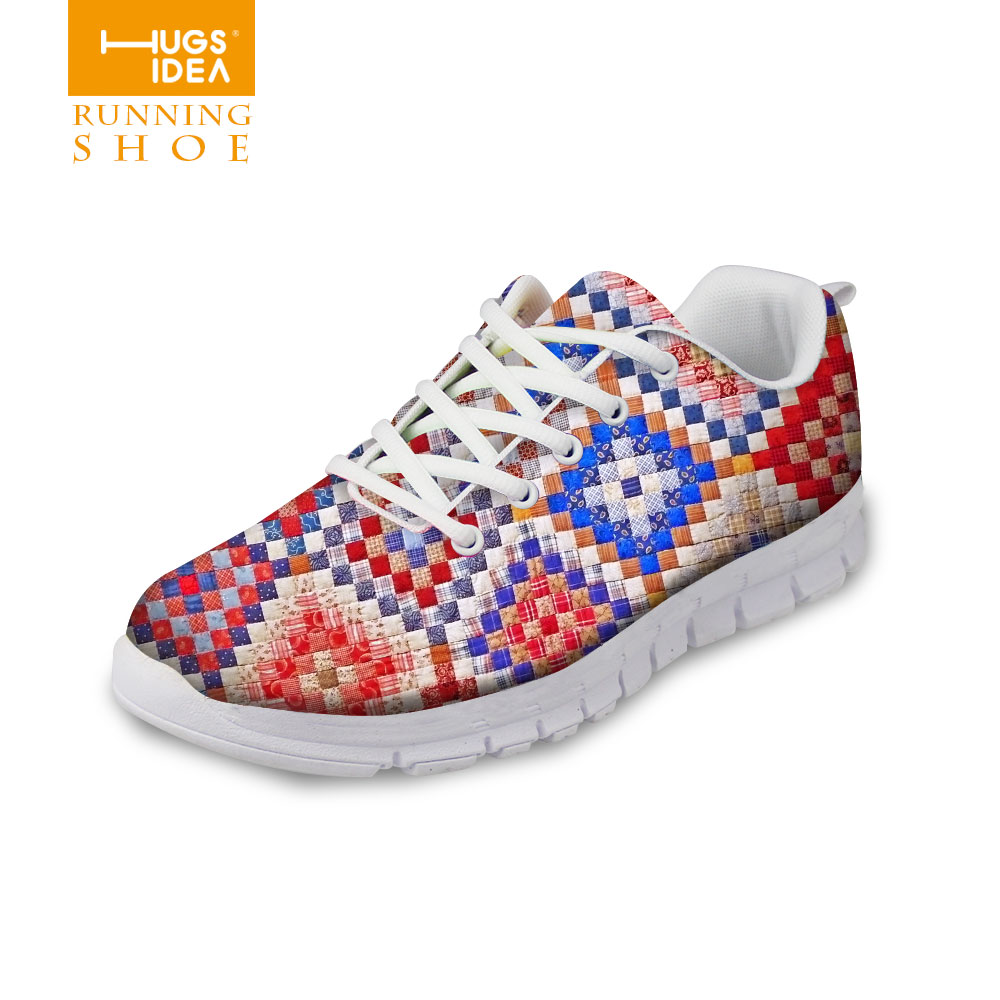 Bohemia Style Womens Shoes Colorful Lattice Female Low Board Breathable Air Shoes Casual Outdoor Daily Shoes for College Girls<br><br>Aliexpress