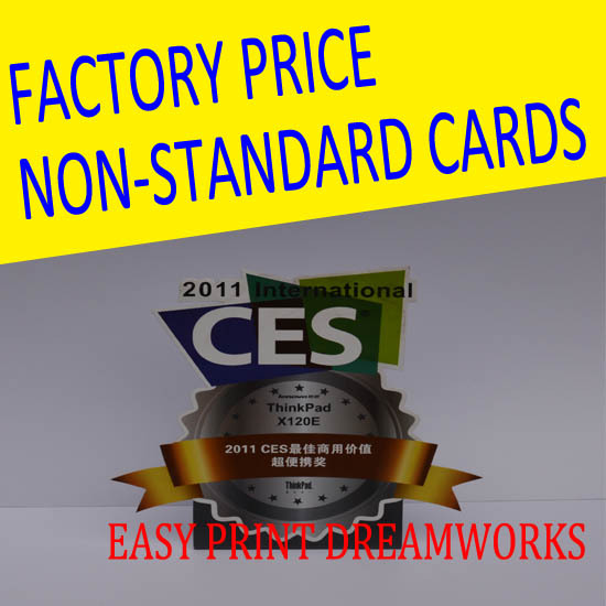 Direct manufacturers custom-made Non-Standard Card different sizes