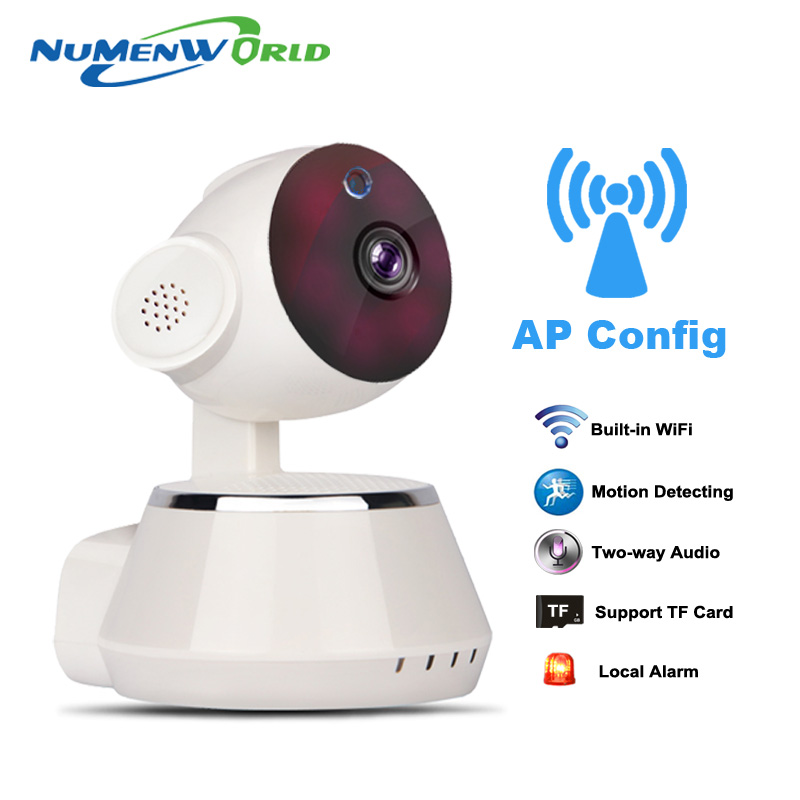Pan Tilt Wireless IP Camera WIFI 720P CCTV Home Security Cam Micro SD Slot Support Microphone & P2P free APP for Iphone android(China (Mainland))