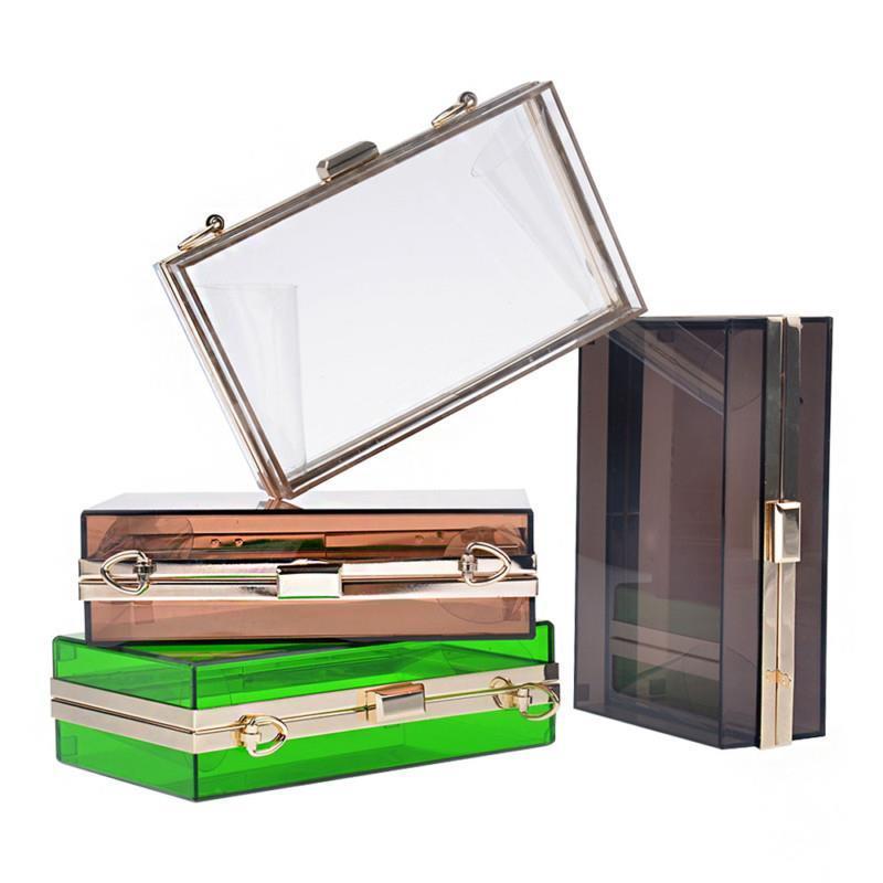 EAST TRADE Women Transparent Lace Acrylic Perspex Clutch Clear Purse Evening Bag Handbag Q0 B292(China (Mainland))