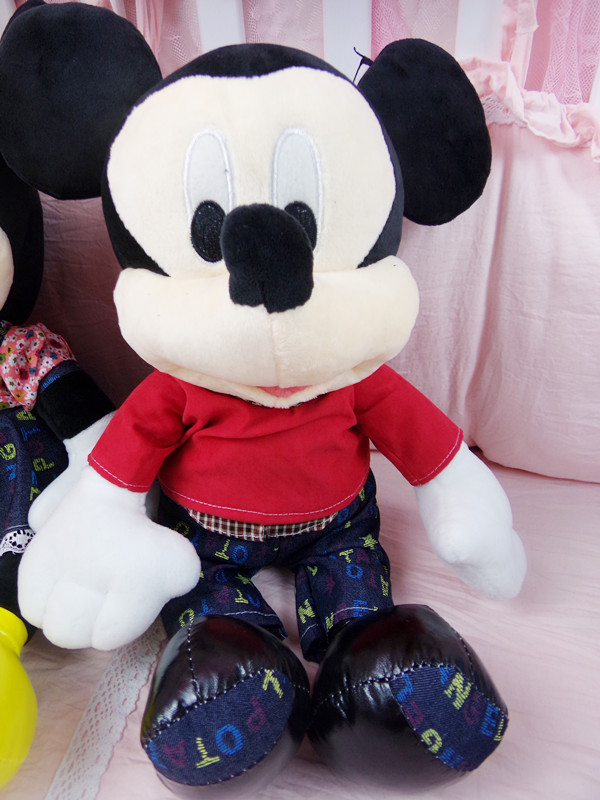 new one 50CM Mickey Mouse plush toy doll to appease children cowboy doll PU doll creative gifts holiday gifts pillow with light(China (Mainland))