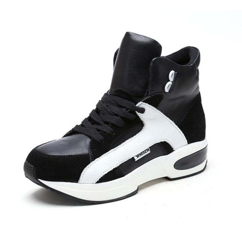 Здесь можно купить  suede Genuine leather flat Basketball shoes Sport women shoes Fashion Mesh sneakers,authentic ladies shoes Breathable Elastic  Обувь