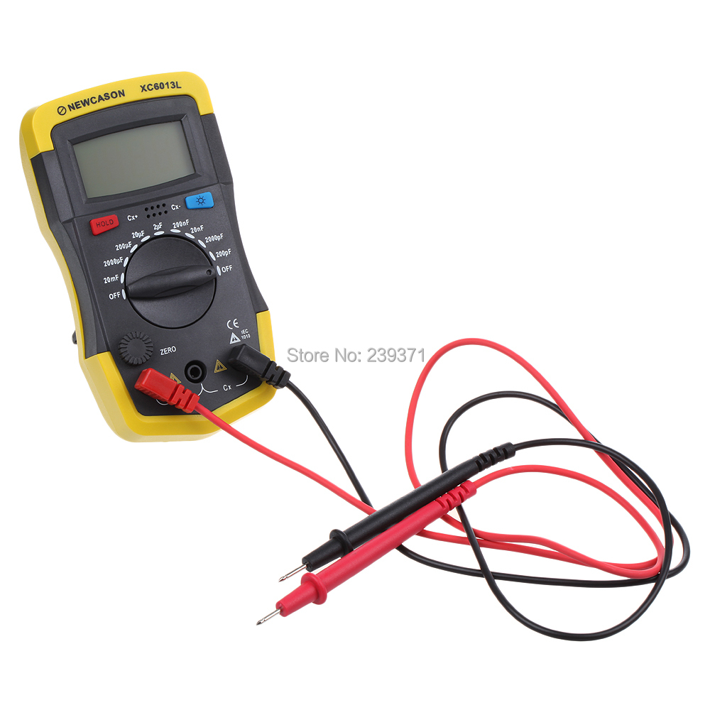 Digital LCD Display Capacitor Capacitance Meter tester 6013 XC6013L lab stand Free shipping New