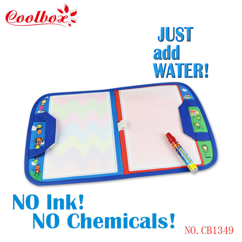 Coolbox CB1349NC 46X29.5cm baby toy Magic Water Doodle Mat with1 Magic Pen/ water doodle bag/Free shipping dropping(China (Mainland))