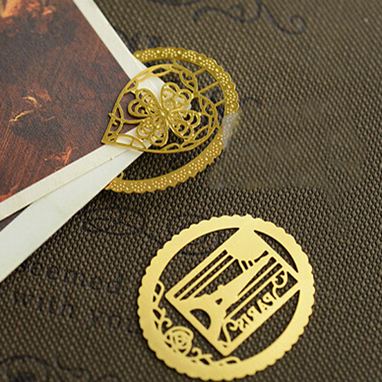2015 New Round Lace Hollow Gold Metal Bookmark Set 7 Designs Book Mark Label Gift Book Marks, 21pcs/lot Wholesale(China (Mainland))