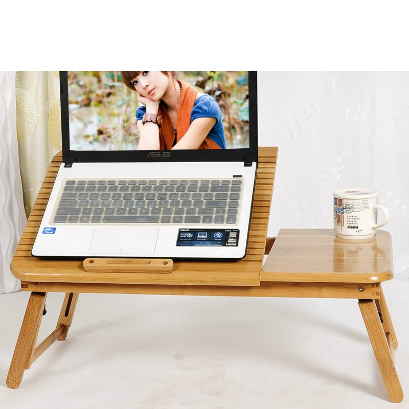 EC DAILY Bamboo Chamber laptop desk bed computer desk desk folding table and bamboo lazy heat Desk Special FREE SHIPPING(China (Mainland))