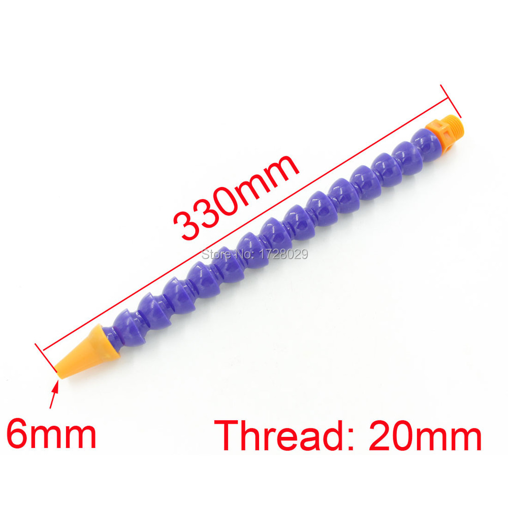Free Shipping 2 PC 1/2'' 20mm Thread Diameter Round Nozzle Flexible Coolant Pipe(China (Mainland))