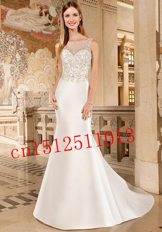 discount new 2016 brand new designer bridal dress mermaid chapel beading wedding dress on sale