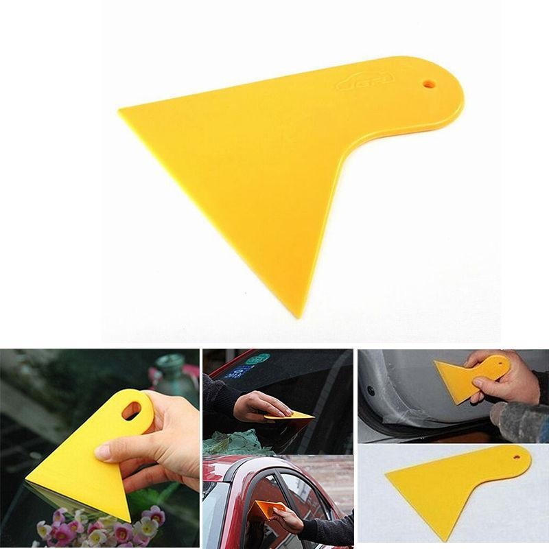 Bubble Window Car Stickers Scraper Plate Glass Yellow Plastic Film Tools Wrapping Film Application Squeegee Scraper Tools(China (Mainland))