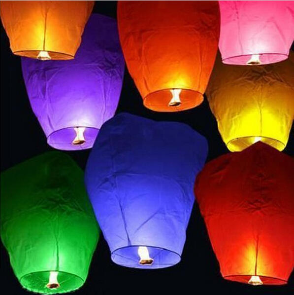 20 Pieces/Lot Chinese Lanterns Fire Sky Fly Candle Lamp for Birthday Wedding Party lantern Wish Lamp Sky Lanterns Free Shipping(China (Mainland))