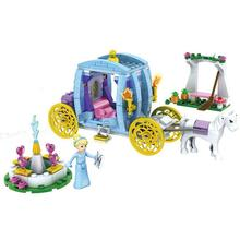 SY Cinderella Carriage Princess 323pcs Building Blocks Minifigure Bricks Action Figures Toy For Girls Gift dada