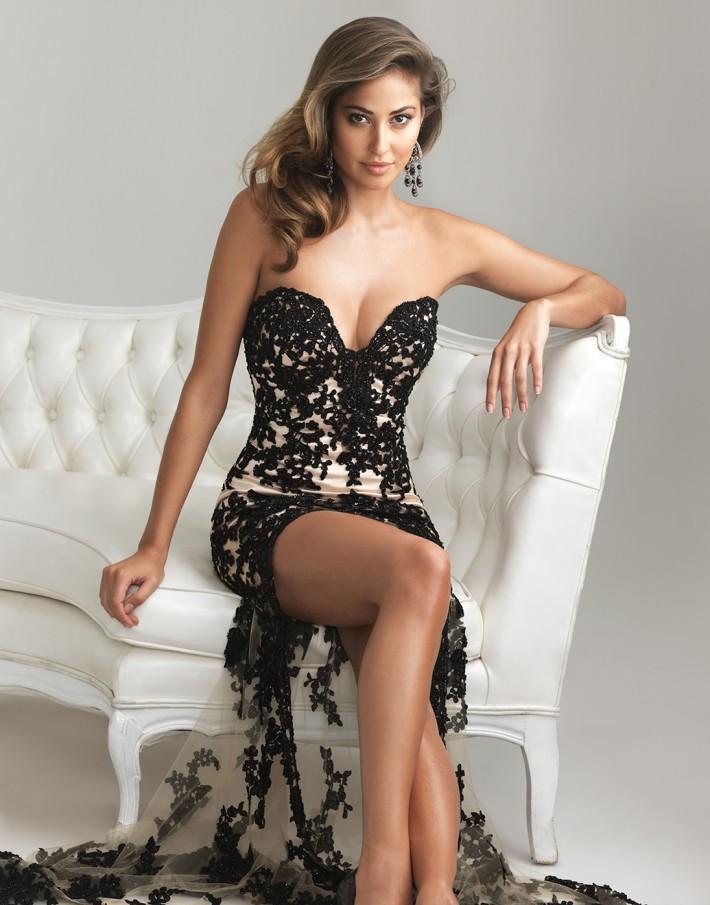Tan And Black Prom Dresses 2014 - Missy Dress
