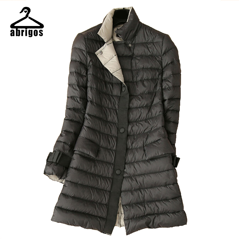 2016 White Duck Down Jacket Women Slim Long Down Jacket Female Coat Outdoors Winter Fall Parka Casaco Jaqueta Feminina YRH001(China (Mainland))