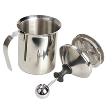 High Quality 200mL Stainless Steel Milk Frother Double Mesh Milk Creamer Milk Foam E2shopping