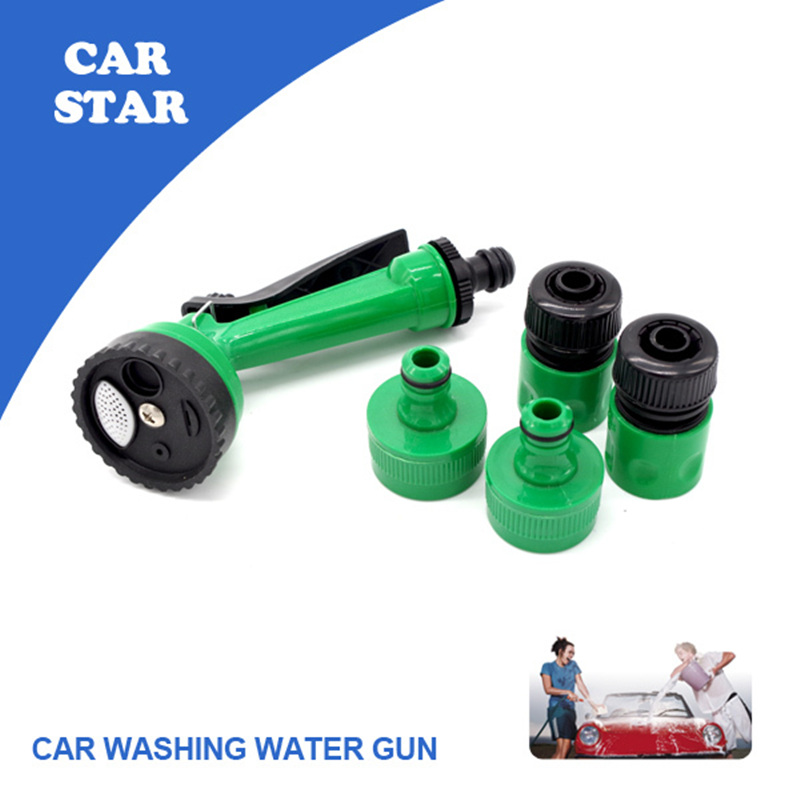 1Set 2015 Portable Car Washer High Pressure Water Spray Gun With Pipe Connection Parts Automotive Cleaning Product Free Shipping(China (Mainland))