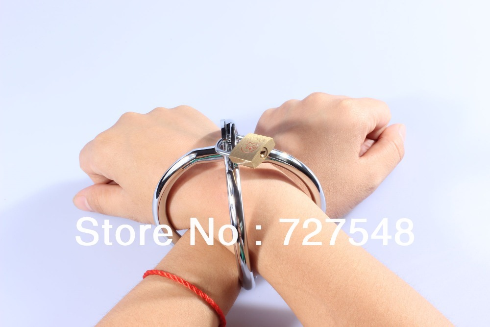 Free shipping! Stainless Steel adult cross hand cuffs with locks drop shipping adut corss hand cuffs hot sell adult sex products<br><br>Aliexpress