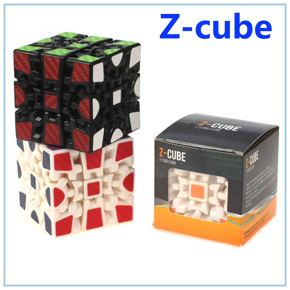 Z-cube a 3X3X3 Carbon Fiber Gear Cube Magic Cube Black/White color Puzzle Cubes V1(China (Mainland))